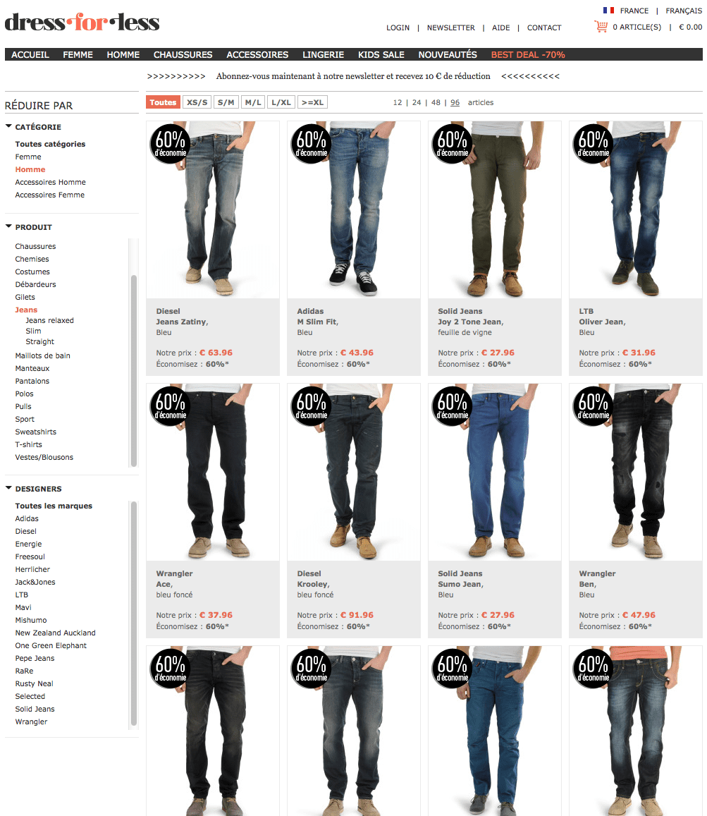 soldes 12 sites pour acheter un jean le barboteur. Black Bedroom Furniture Sets. Home Design Ideas