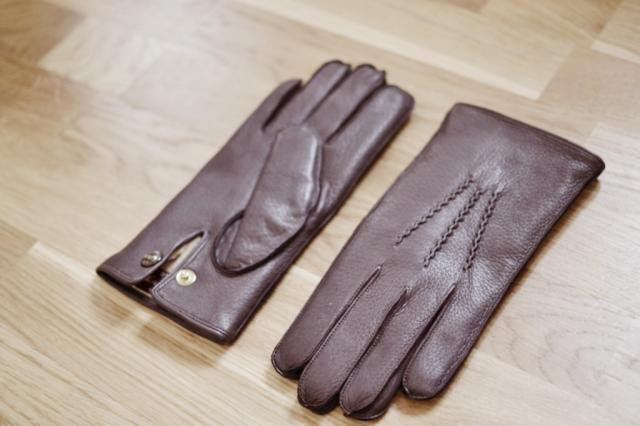gants en cuir Dents