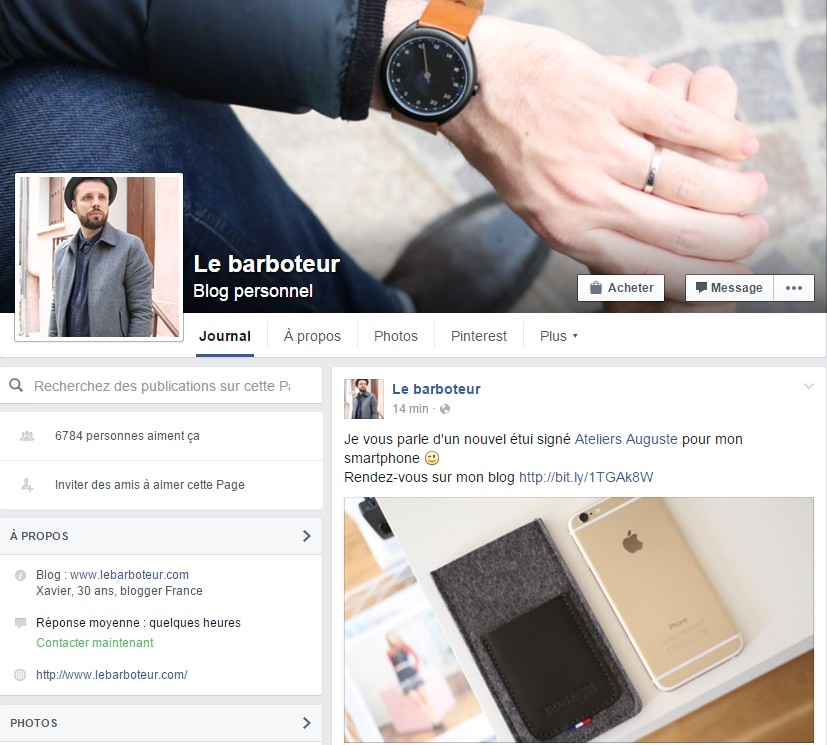 page-facebook-lebarboteur-influencer-mode-mesnwear