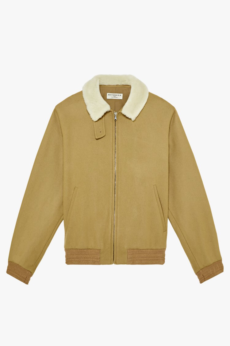 bomber-col-peau-lainee-