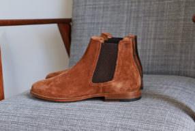 Chelsea boots velours Pied de Biche