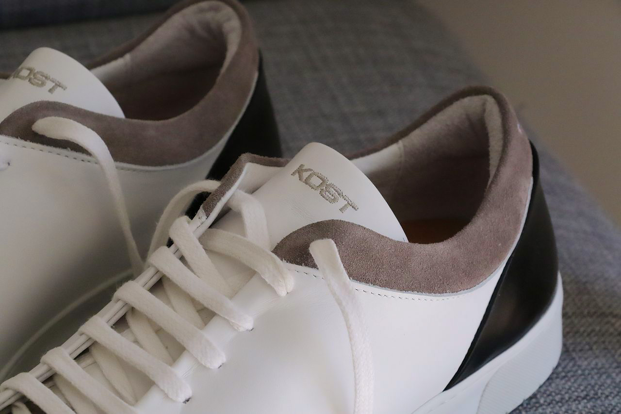 Chaussures Cuir Blanche Fripon Basket Homme   KOST